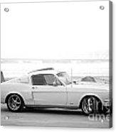 67 Mustang In Black Acrylic Print