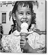 Girl With Ice Cream Cone Acrylic Print