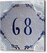 68 Acrylic Print