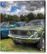 68' Mustang Acrylic Print