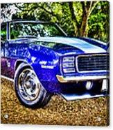 69 Chevrolet Camaro - Hdr Acrylic Print by motography aka Phil Clark