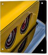 '69 Corvette Tail Lights Acrylic Print