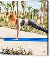 Woman Doing Yoga Acrylic Print