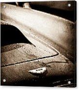 1959 Aston Martin Db4 Gt Hood Emblem Acrylic Print