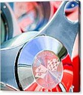 1960 Chevrolet Corvette Steering Wheel Emblem Acrylic Print