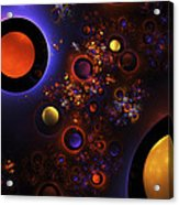 Computer Generated Sphere Abstract Fractal Flame Modern Art Acrylic Print