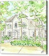 Custom House Portrait  Or Rendering Sample Acrylic Print