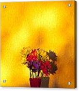 Daisies In A Vase On Shelf Acrylic Print