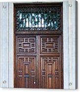 Distinctive Doors In Madrid Spain Acrylic Print
