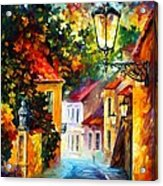 Evening Acrylic Print by Leonid Afremov