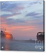 Ghost Ship Glowing Acrylic Print