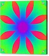 Kaleidoscope Drawing Acrylic Print