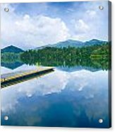 Lake Santeetlah In Great Smoky Mountains North Carolina Acrylic Print
