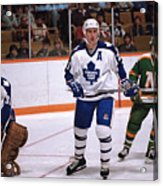Minnesota North Stars v Toronto Maple Leafs Acrylic Print