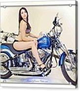 Models And Motorcycles Acrylic Print