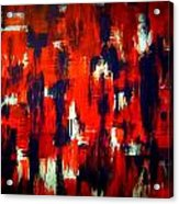 Modern Abstract Painting Original Canvas Art Shadow People By Zee Clark Acrylic Print