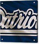 New England Patriots Uniform Acrylic Print