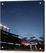 New York Mets V Colorado Rockies Acrylic Print