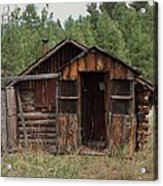 Old And Abandoned Acrylic Print by Yvette Pichette