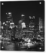 Pittsburgh Skyline At Night Acrylic Print