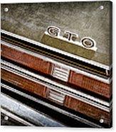 1969 Pontiac Gto Taillight Emblem -0475a Acrylic Print