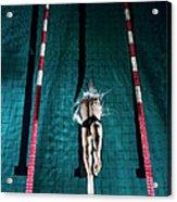 Professional Swimmer Acrylic Print