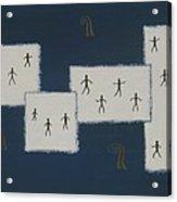 7 Ray World Dance Acrylic Print