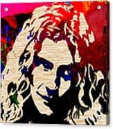 Robert Plant Acrylic Print by Marvin Blaine