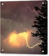 Rounds 2 3 Late Night Nebraska Storms Acrylic Print