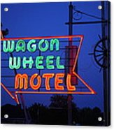 Route 66 - Wagon Wheel Motel Acrylic Print