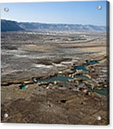 Sinkholes In Northern Dead Sea Area Acrylic Print