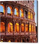 The Majestic Coliseum - Rome Acrylic Print