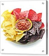 Tortilla Chips And Salsa Acrylic Print