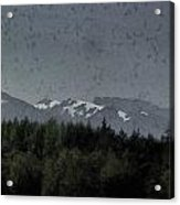 Treeline With Ice Capped Mountains In The Scottish Highlands Acrylic Print