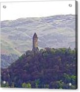 View Of Wallace Monument From The Heights Of The Stirling Castle Acrylic Print