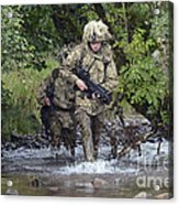 Welsh Guards Training Acrylic Print