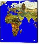 Modern World Map  Acrylic Print