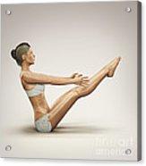 Yoga Boat Pose Acrylic Print