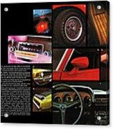 '70 Mustang Options Acrylic Print