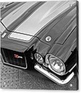 71 Camaro Z28 In Black And White Acrylic Print