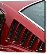 Mustang Fastback Detail Acrylic Print