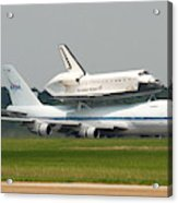 747 Carrying Space Shuttle Acrylic Print