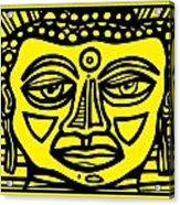 Jakubek Buddha Yellow Black Acrylic Print