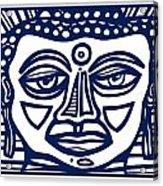 Trivane Buddha Blue White Acrylic Print