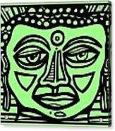 Cleark Buddha Green Black Acrylic Print