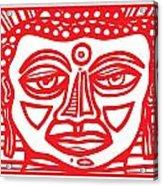 Barbot Buddha Red White Acrylic Print