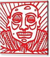 Pisco Buddha Red White Acrylic Print