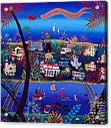 75th Anniversary Of Palm Beach, Florida Oil On Canvas Acrylic Print