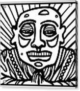 Lorton Buddha Black And White Acrylic Print
