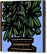 Kisiel Plant Leaves Green Black Acrylic Print